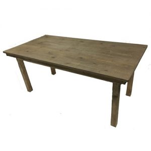 Rustic style wooden table brown wood grain appearance