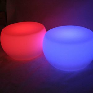 illuminated coffee tables red and blue