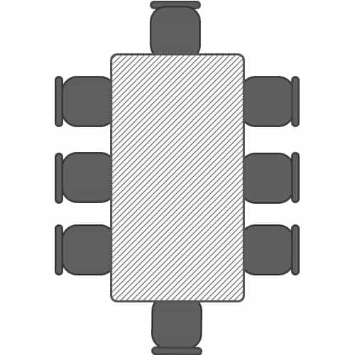 1.8m table for 8 people seating plan