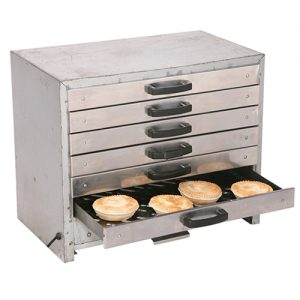 Silver drawer pie oven