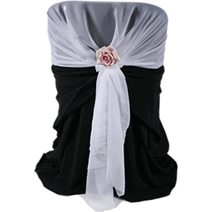 Chair Cover With Rose
