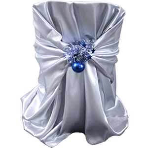 Chair Cover With Tinsel