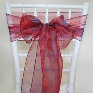 Dark Red Organza Sash