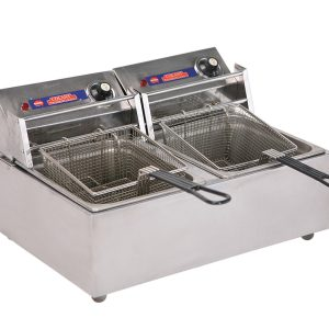 Stainless steal double deep fryer