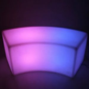 Glow Curved Bench