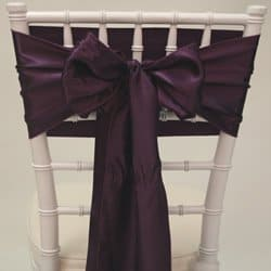Grape Satin Sash