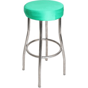 Green Padded Stool Cover
