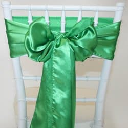 Green Satin Sash