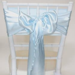 Ice Blue Satin Sash