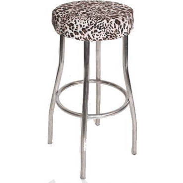 Leopard Print Padded Stool Cover