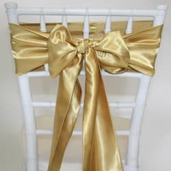 Light Gold Satin Sash