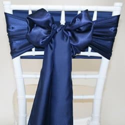 Navy Blue Satin Sash