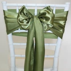 Olive Green Satin Sash