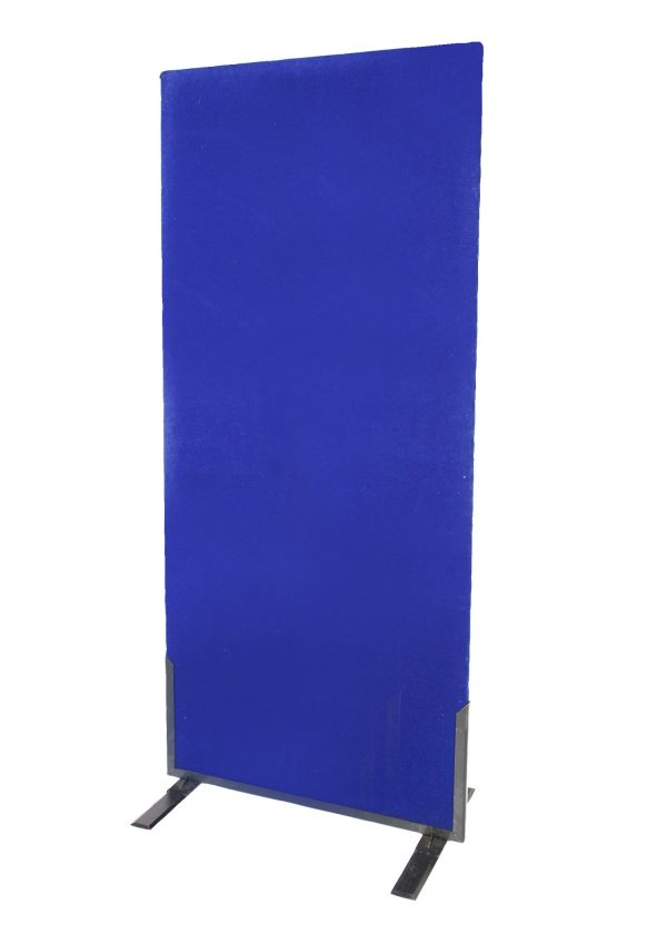 Blue Partition Wall