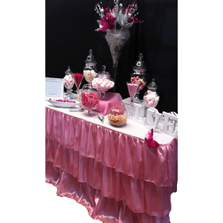 Pink Ruffle Table Skirting