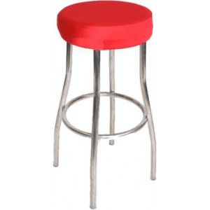 Red Padded Stool Cover