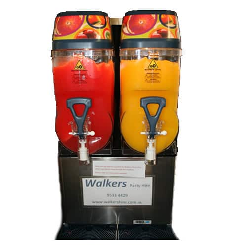 Double barrel Slushie machine hire in sydney