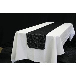 Table Runner – Black Lace