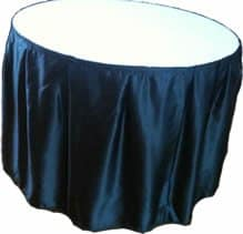 Table Skirting - Black Satin