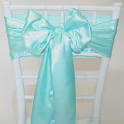 Tiffany Blue Satin Sash