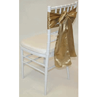 Tiffany Chair with Gold Satin