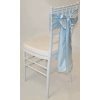 Tiffany Chair with Ice Blue Satin