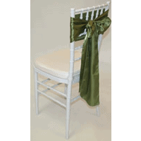 Tiffany Chair with Olive Satin