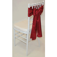 Tiffany Chair with Red Satin