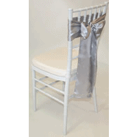 Tiffany Chair with Silver Satin