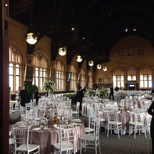 tiffany chairs at wedding sydney university