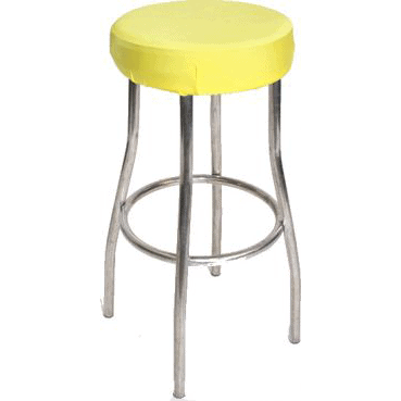 Yellow Padded Stool Cover