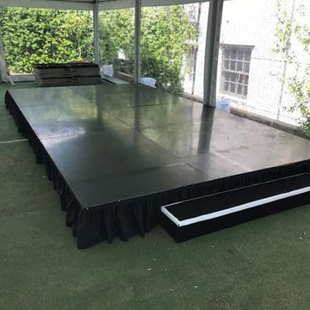 Black stage 300mm high 6m x 3m rectangle