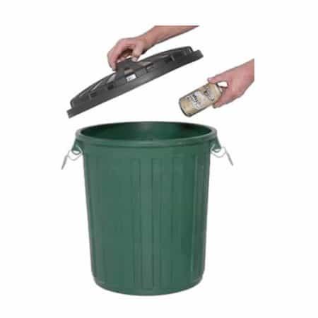 75 litre Green garbage bin with lid