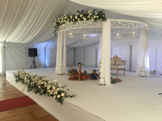 White Stage in marquee