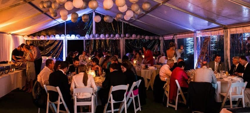 50th party marquee dinner