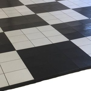 Vinyl Black & White Floors
