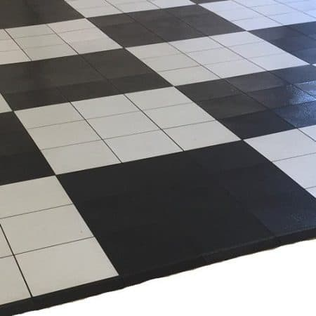 vinyl black and white floor hire