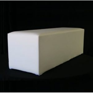 White ottoman benches for hire