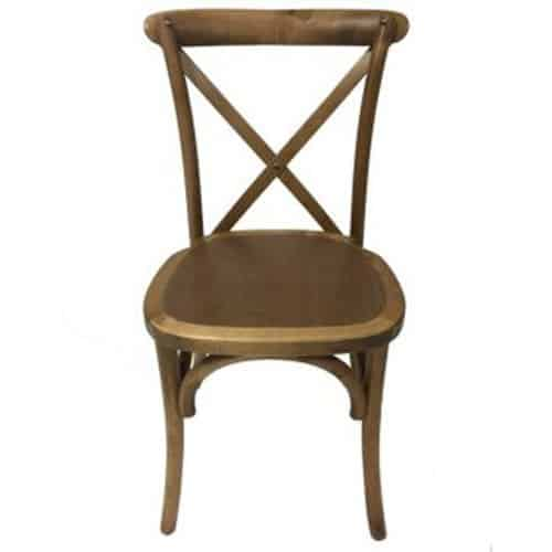 Cross Back Timber Chair