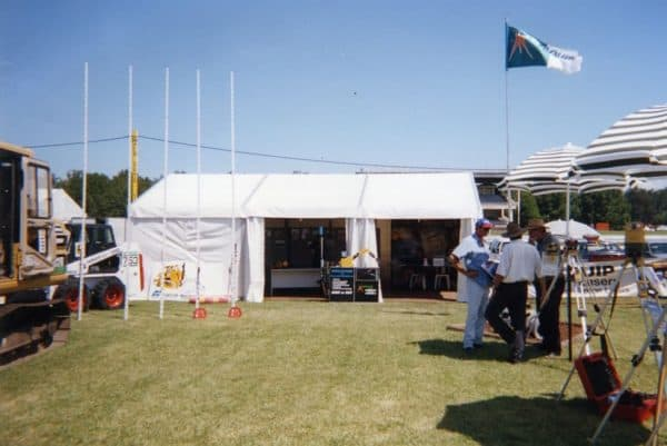 Marquee white 4m x 9m at field day for civenex