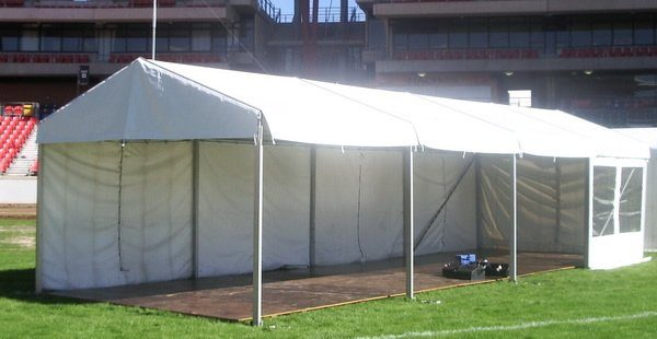 Marquee and floor on grass at showground stadium homebush