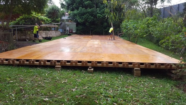 marquee floor on sloping ground