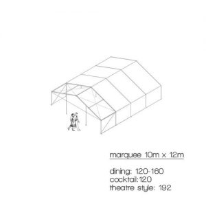 marquee diagram 10m x 12m