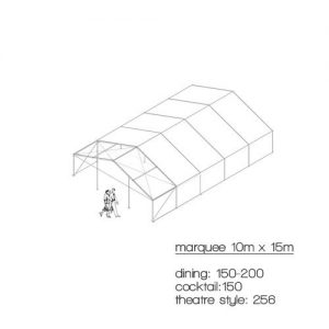 marquee diagram 10m x 15m