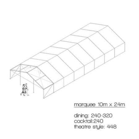 marquee diagram 10m x 24m marquee