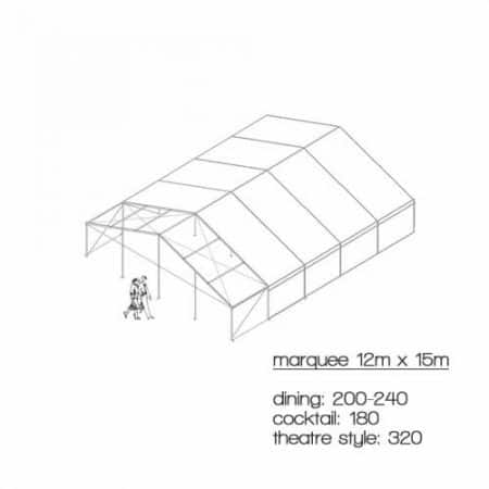 marquee diagram 12m x 15m