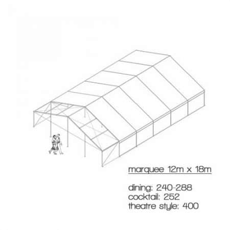 marquee diagram 12m x 18m