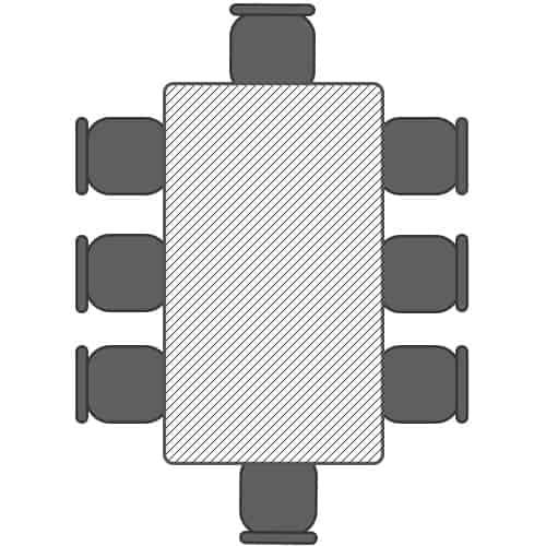 1.8m table for 8 poeple seating plan