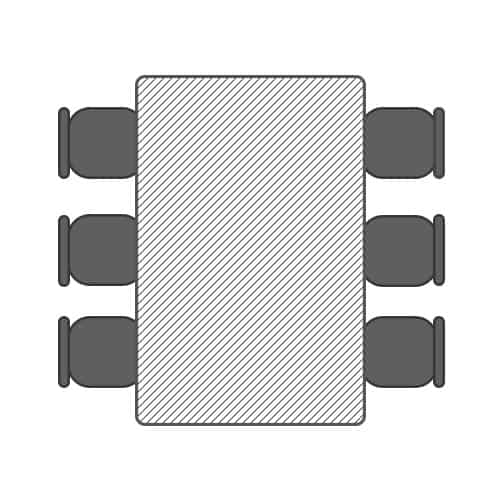 1.8m table for 6 people seating plan