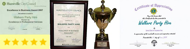 Awards Won By Walkers Hire